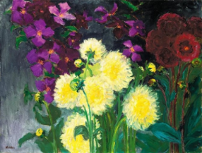 Emile Nolde - Clematis and Dahlias