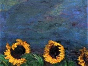 Emile Nolde - Sunflowers in Oils