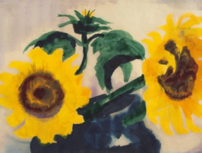 Emile Nolde - Sunflowers