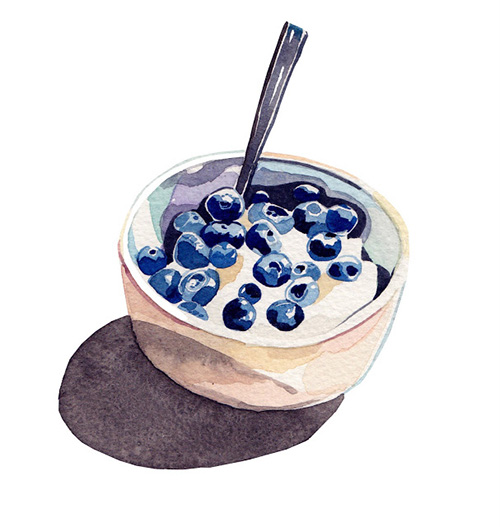 blueberry-watercolour-illustration-fruit-bowl