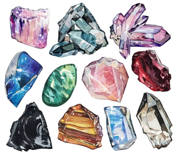 gemstones_in_watercolour